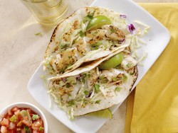Snapper Fish Tacos with Cilantro Slaw